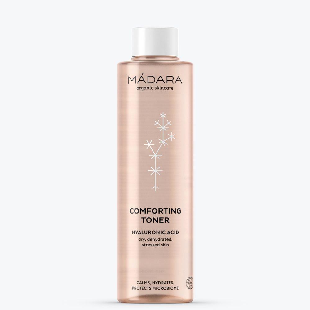 Comforting Toner de Mádara para pieles sensibles y secas.