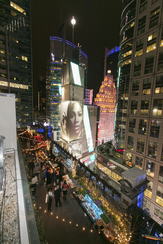 Las vistas más increíbles sobre Times Square, están en la terraza del Hotel The Knickerbocker