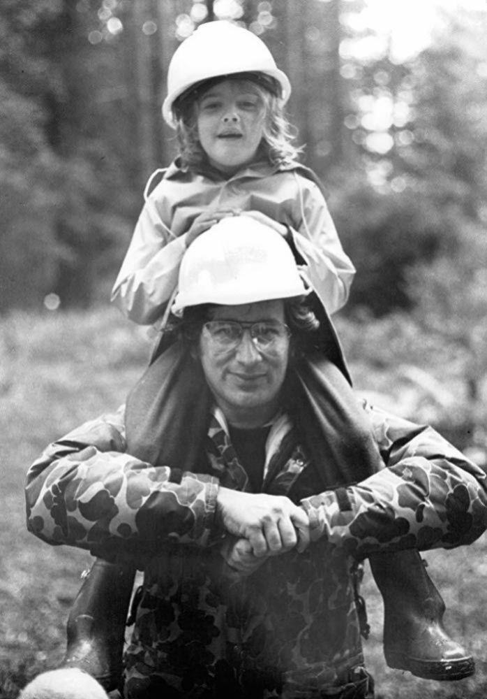 Steven Spielberg y Drew Barrymore