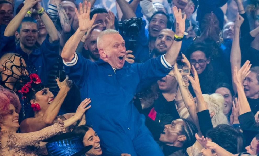 Jean Paul Gaultier en su despedida de la moda, el pasado 23 de enero...