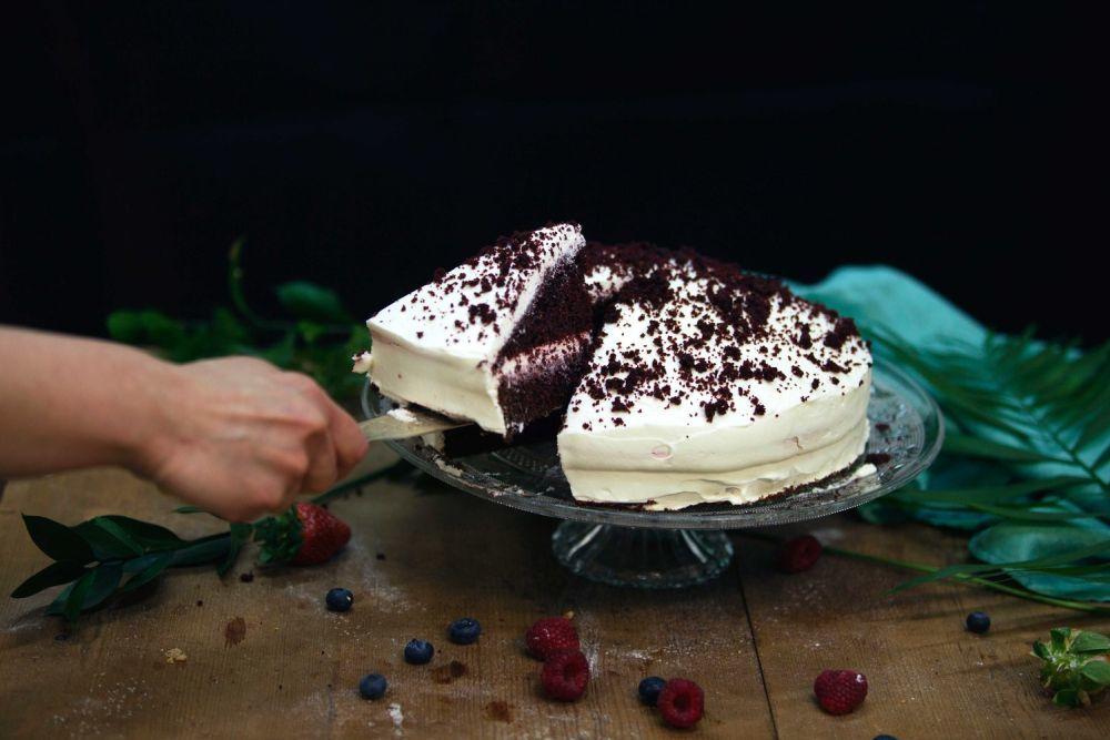 Lo mejor, una tarta casera. Esta de la imagen es del taller de...