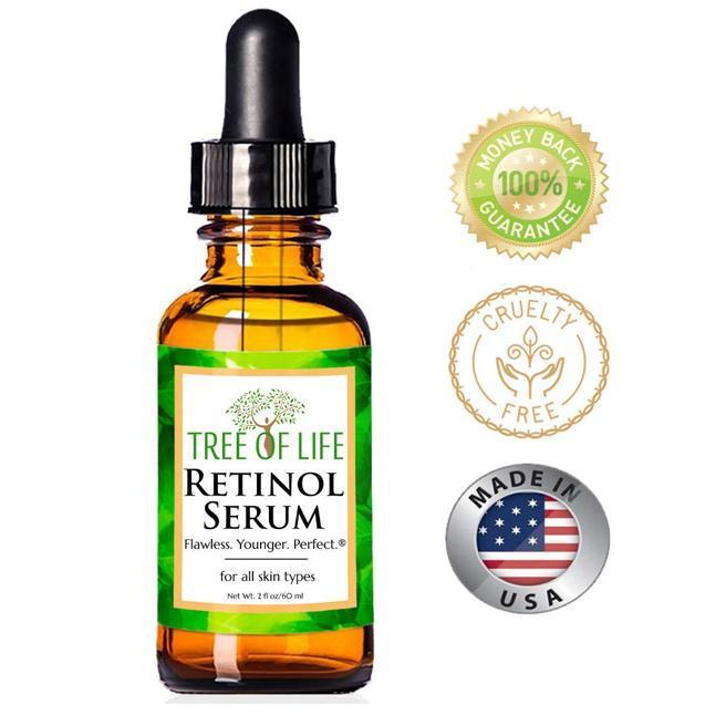 Sérum con retinol y vitamina C.