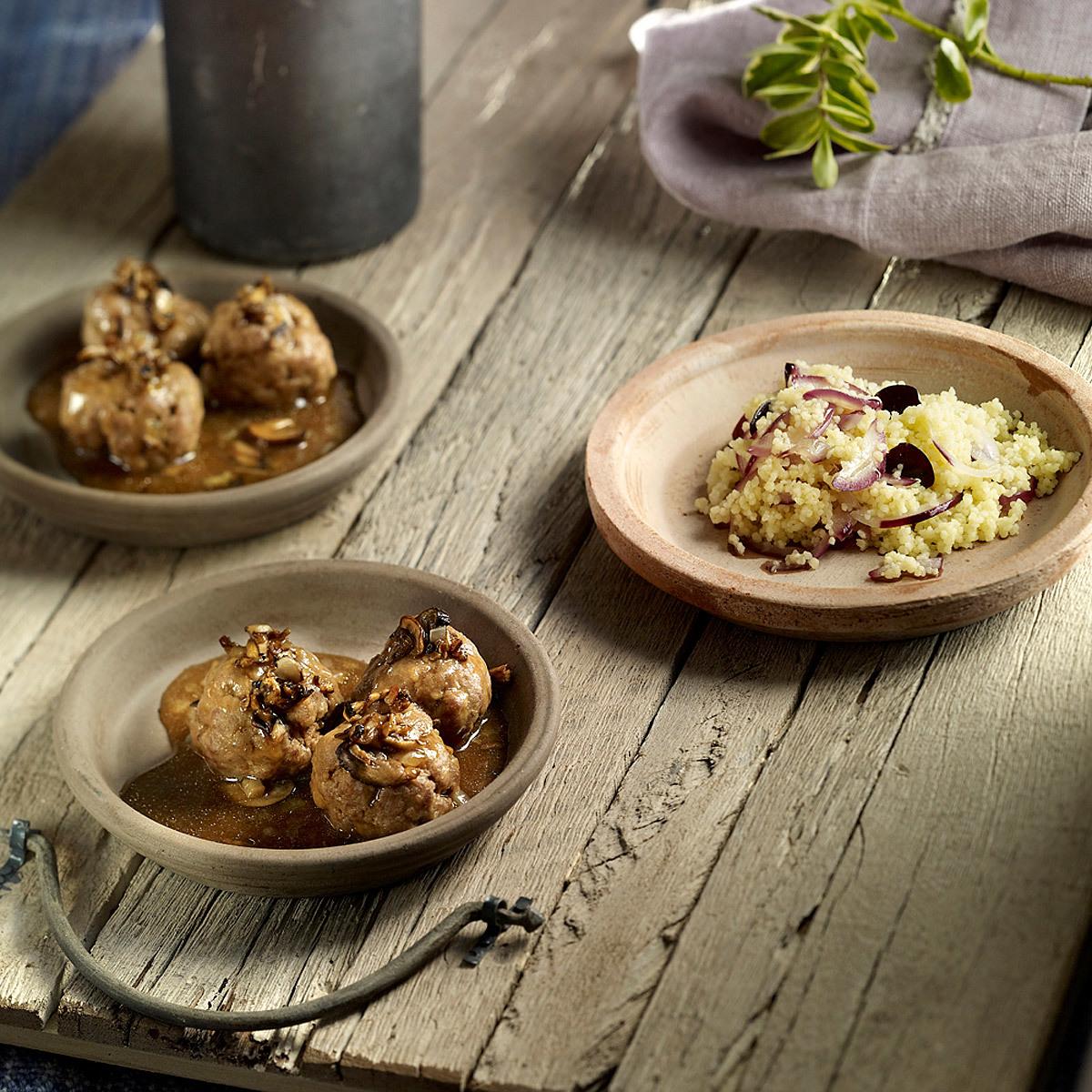 Albóndigas caseras de cordero con salsa de trufa