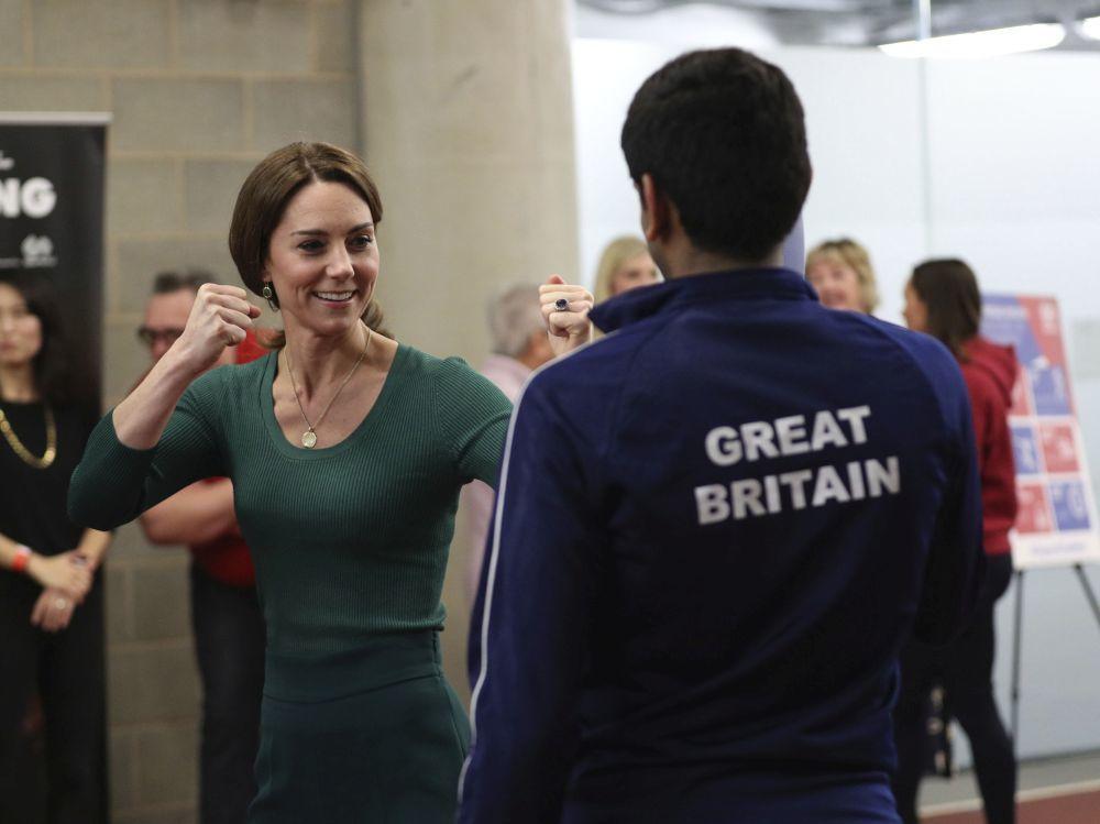 Kate Middleton en el Estadio Olímpico de Londres