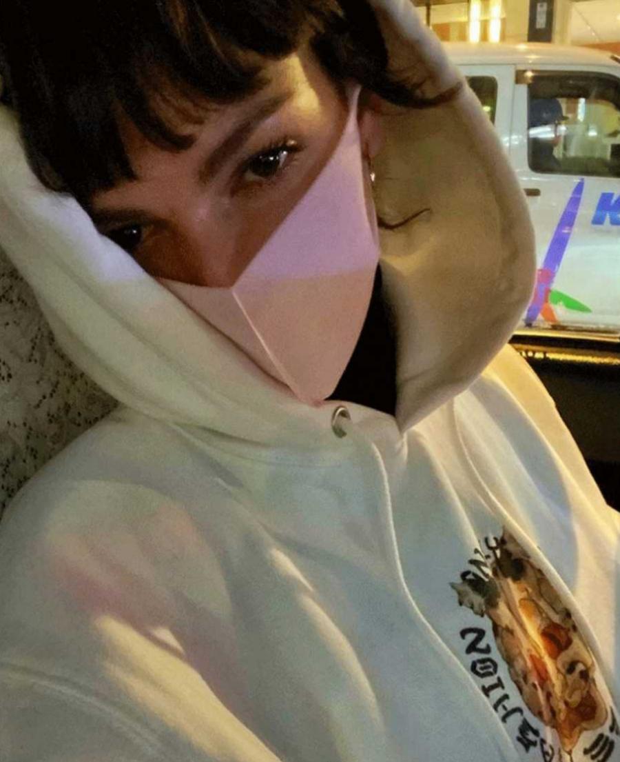 El selfie de la actriz Úrsula Corberó con mascarilla en Tokyo