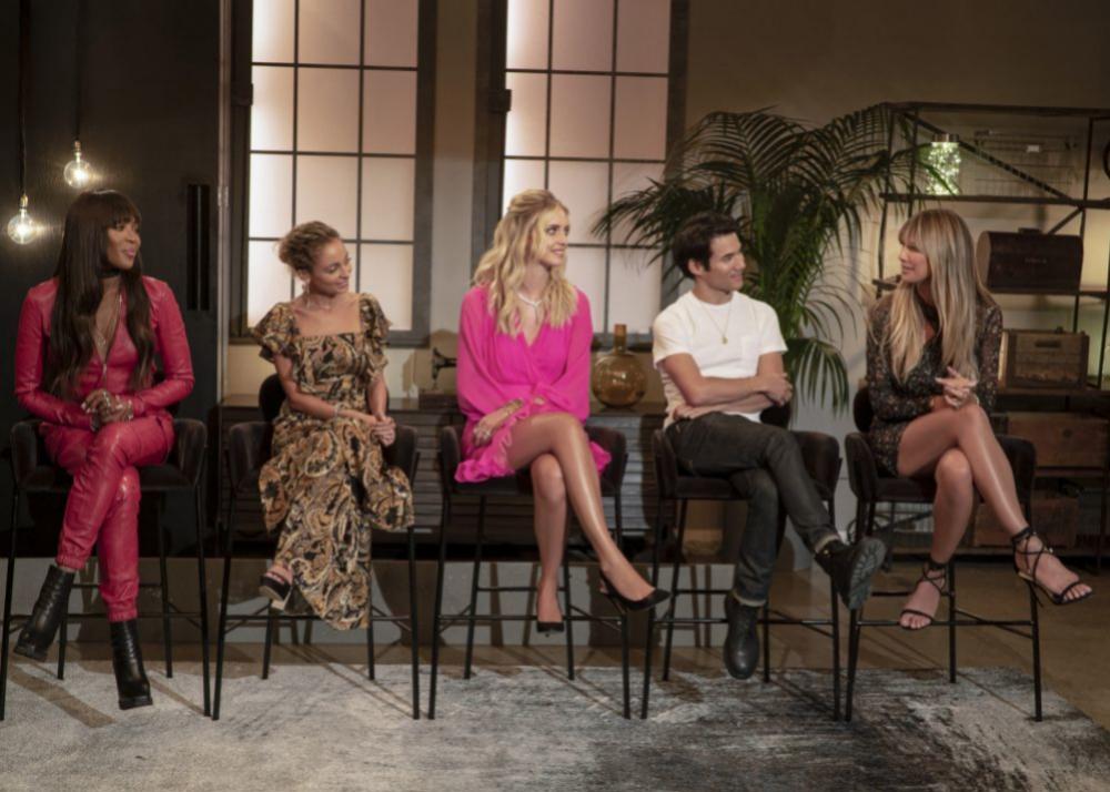 Heidi Klum with the jury Making the Cut.