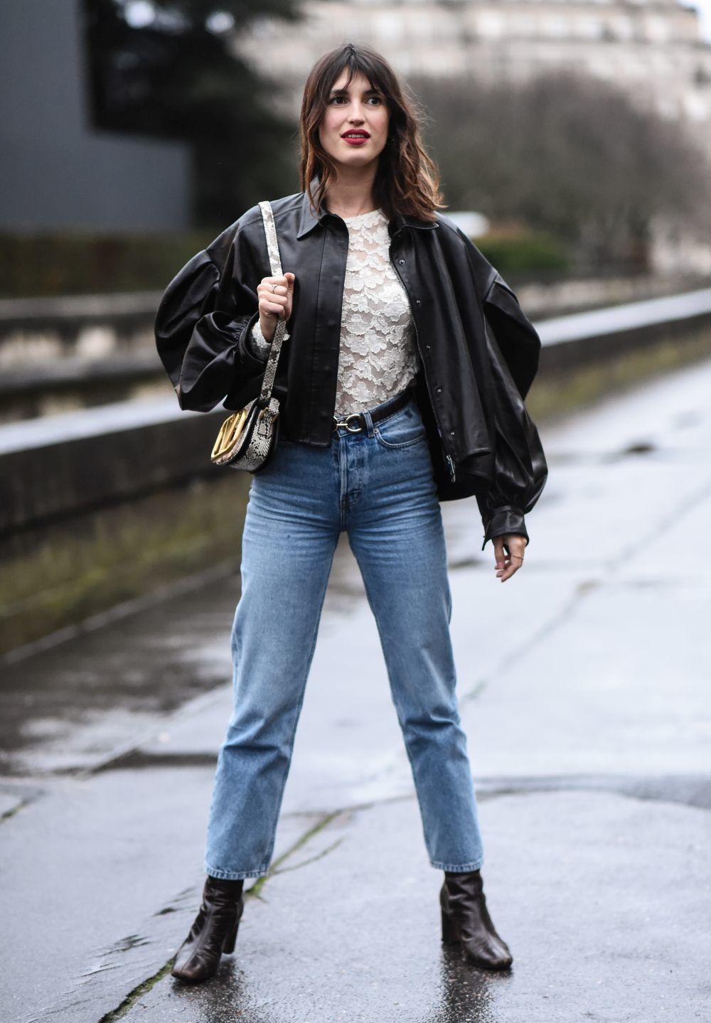 Jeanne Damas durante París Fashion Week.