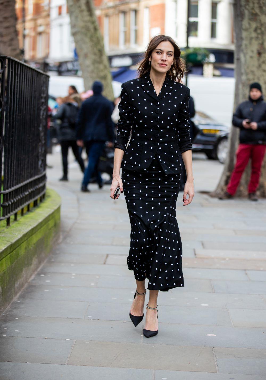 Alexa Chung con vestido de Erdem.