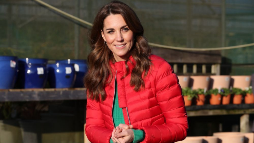 Kate Middleton antes de cortarse el pelo el pasado mes de diciembre en...