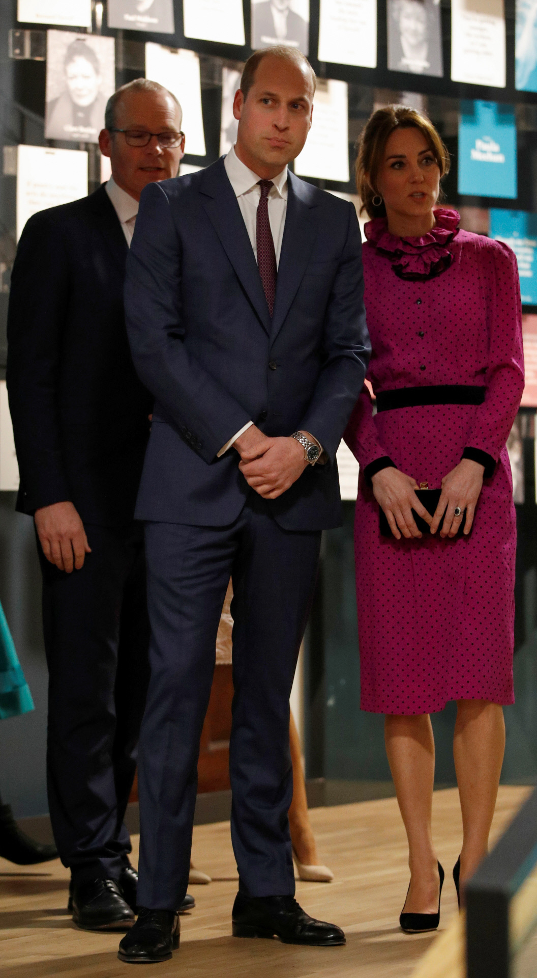 Los Duques de Cambridge en su visita al Museo de Literatura de Irlanda