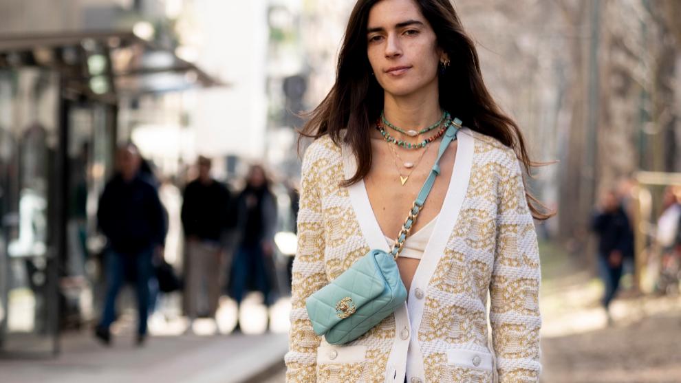 No hemos visto demasiados cárdigans de rayas en la <em>fashion week...