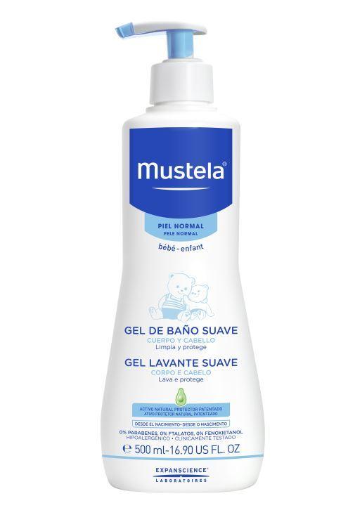 Gel de baño para bebé de Mustela.