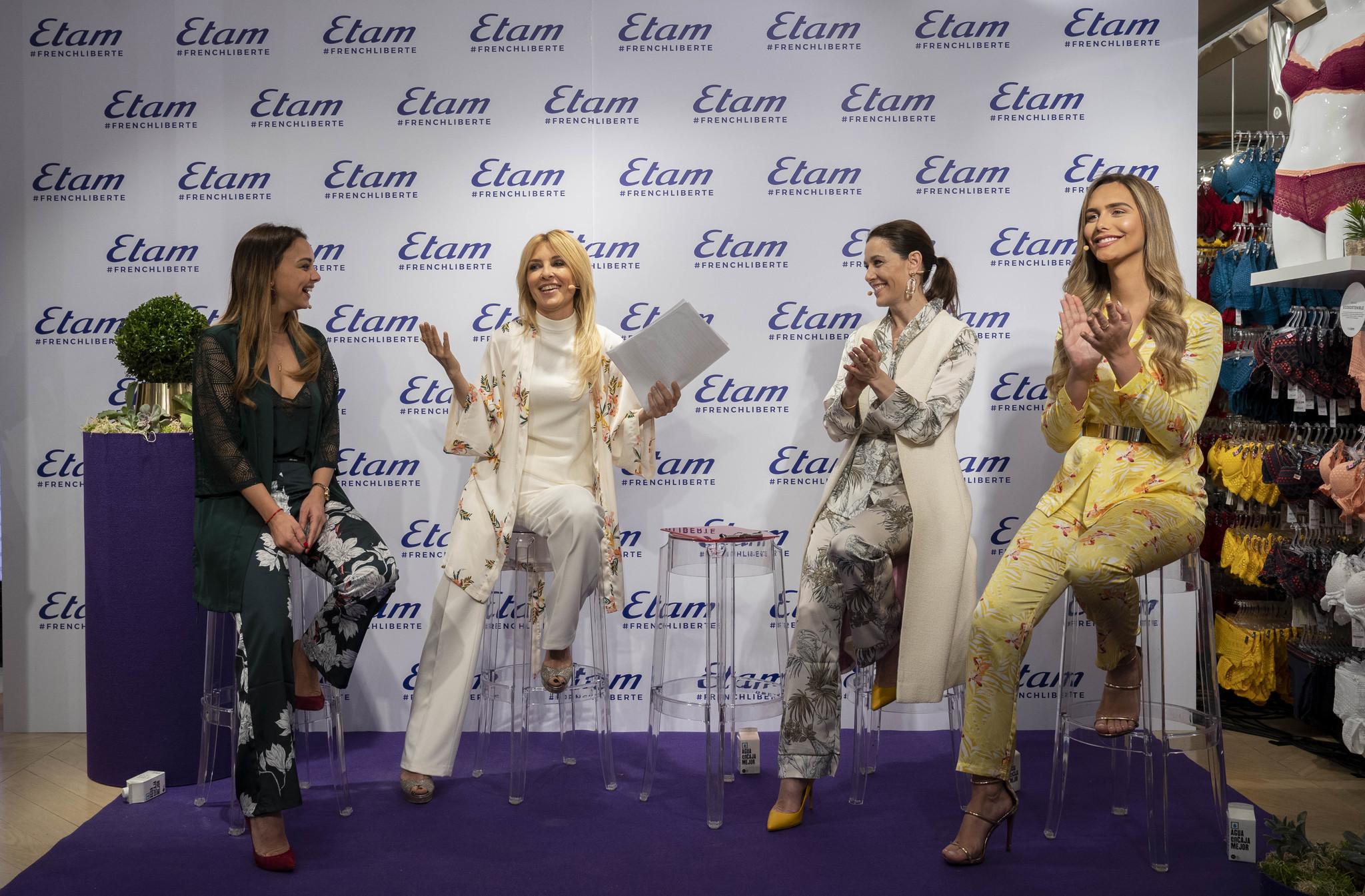 La tertulia con las celebrities en el evento de Etam