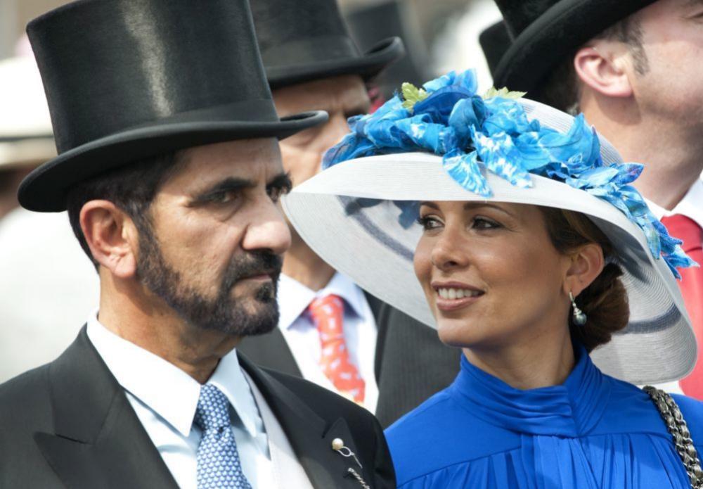 Haya y el emir de Dubai en Londres.