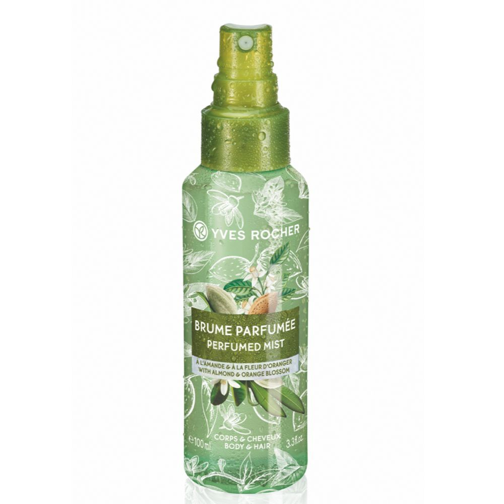 Perfume Body and Hair Mist de almendra y flor de azahar de Yves Rocher.