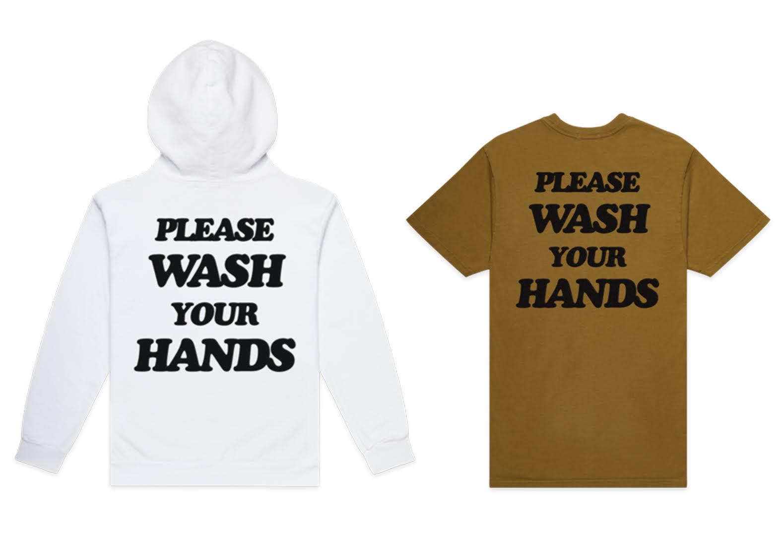 Sudadera y camiseta de la marca Talentless con mensaje contra el coronavirus