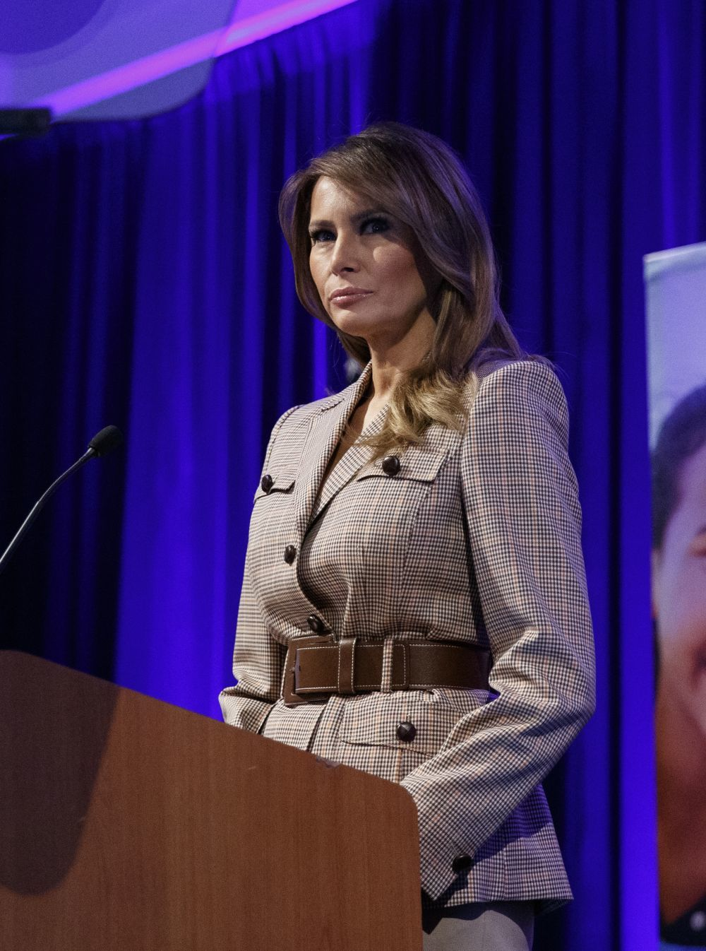 La primera dama de Estados Unidos.
