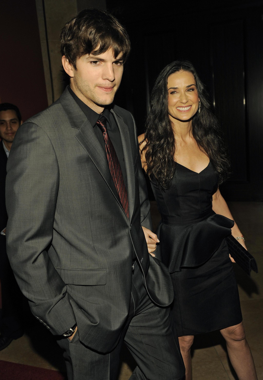 Los actores Ashton Kutcher y Demi Moore.