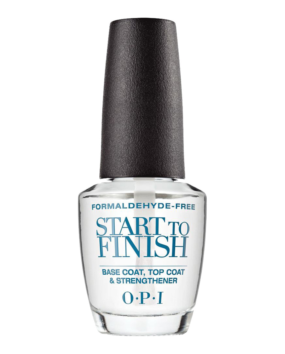 Base, Top Coat y Fortalecedor Start to Finish de Opi (28 euros). El producto perfecto para una manicura de principio a fin.