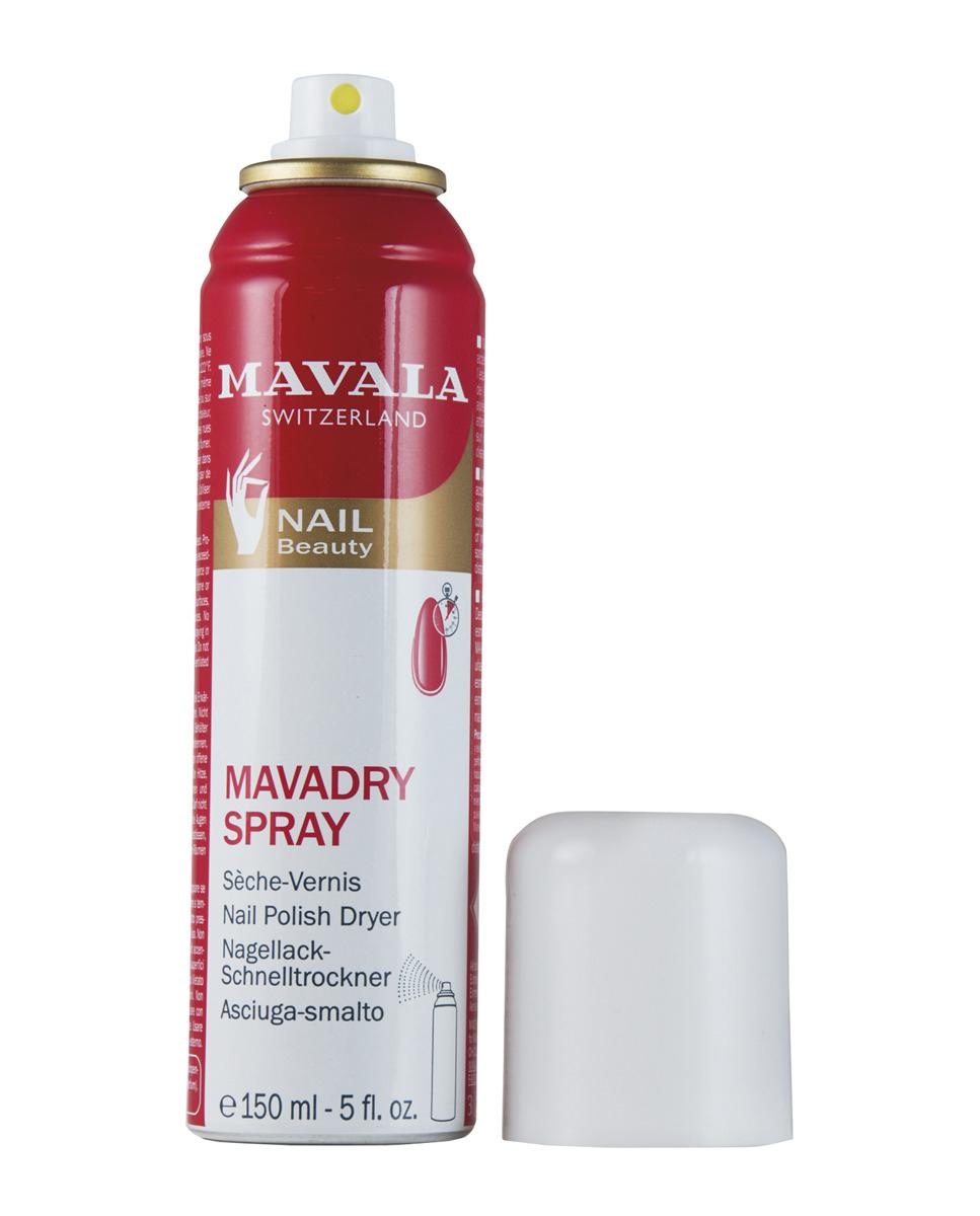 Spray seca esmalte Mavadry de Mavala (17,30 euros). Realza el brillo y la intensidad, además de favorecer su rápido secado.
