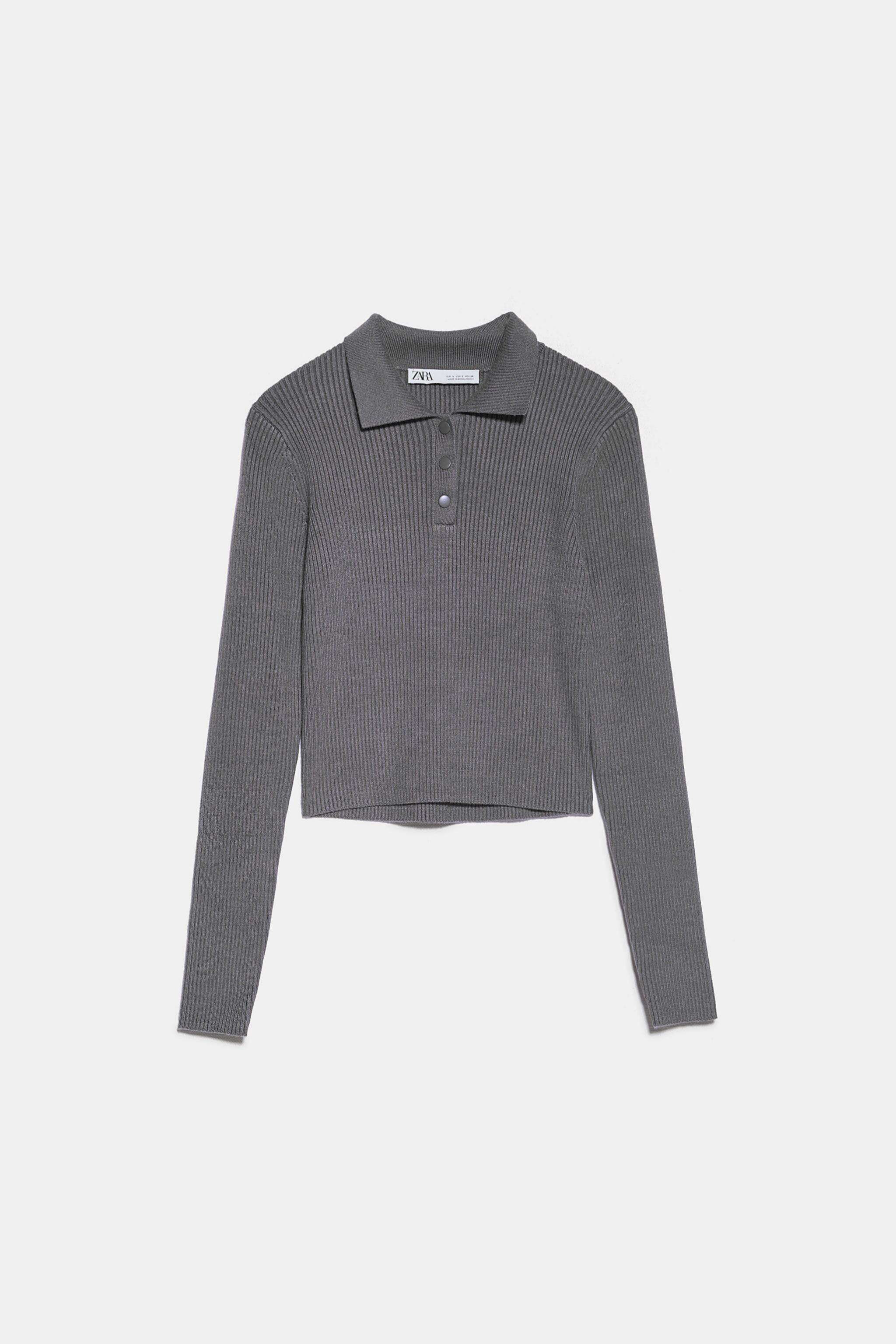 Jersey tipo polo en color gris de Zara (19,95¤)