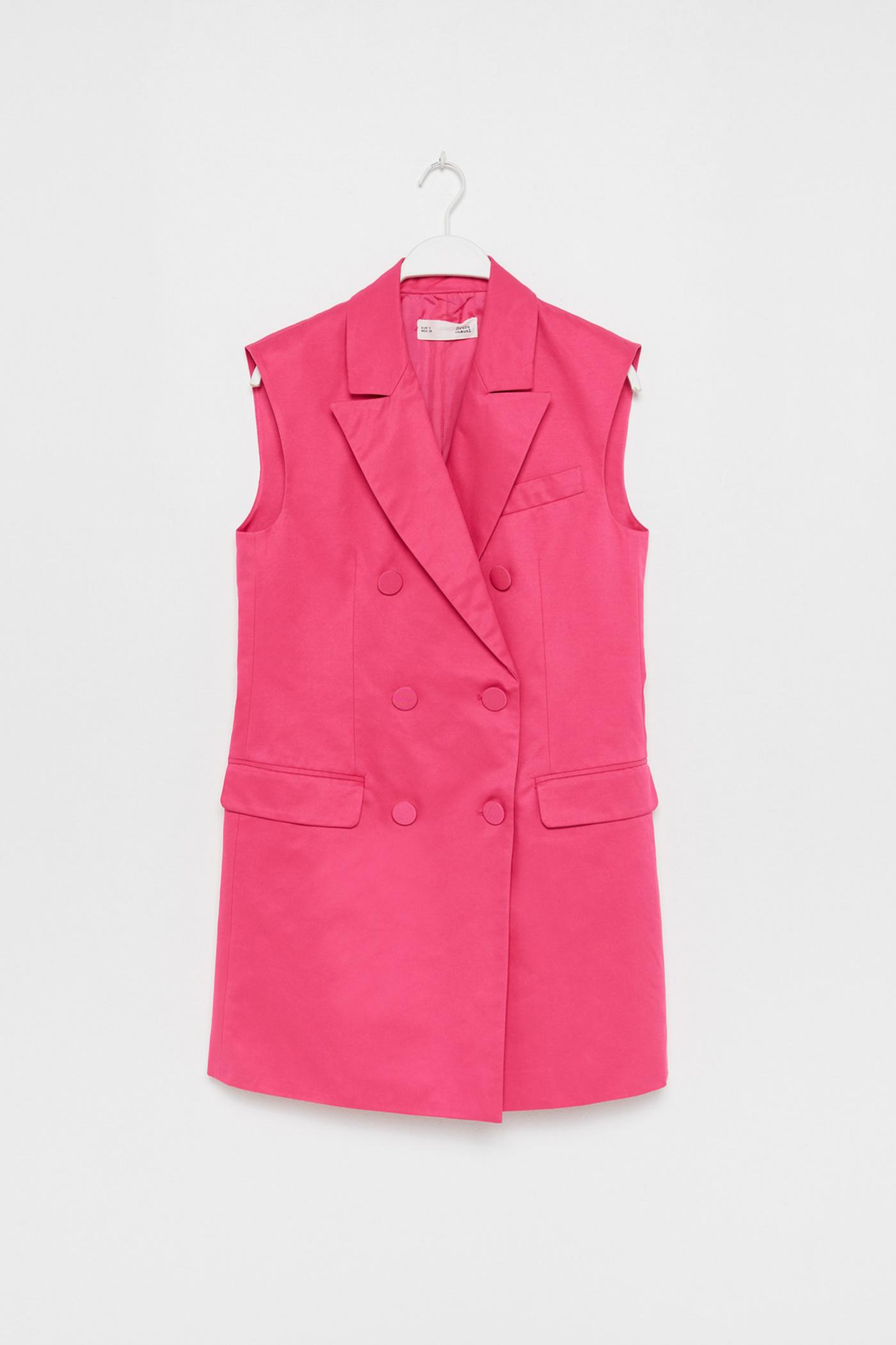 Chaleco en color rosa chicle de Sfera (35,99¤)