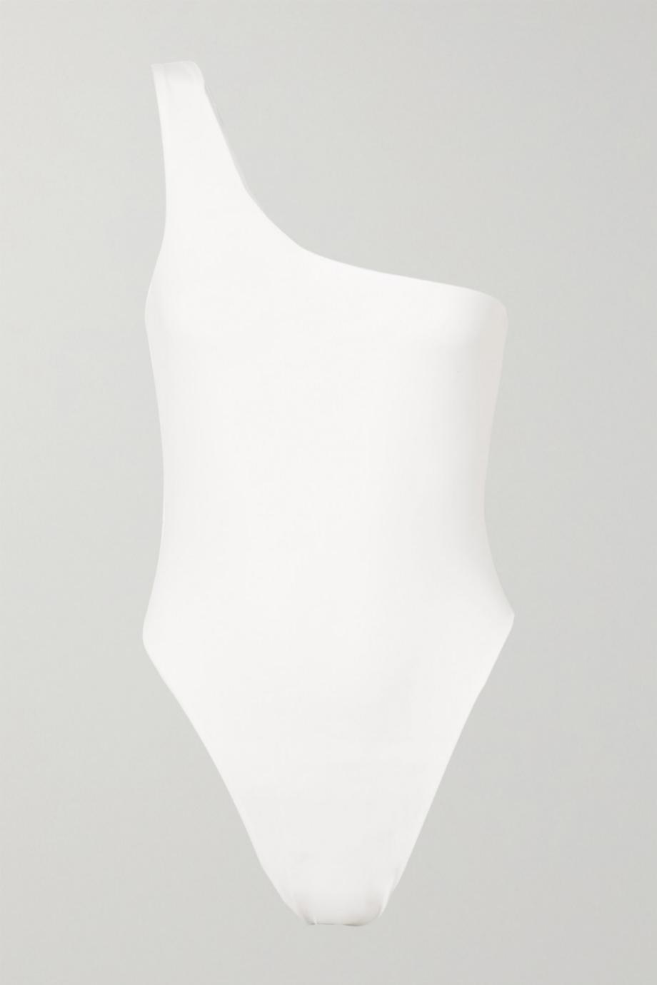 Bañador asimétrico en color blanco de Myra para Net a porter (117,64¤)