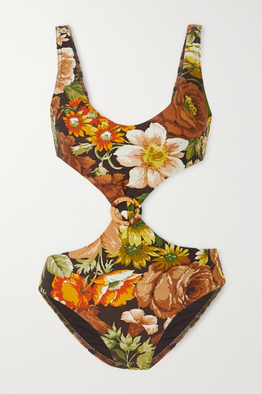 Bañador tipo triquini con estampado floral de Zimmerman (335¤)