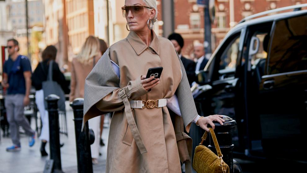 Una de las gabardinas que hemos visto en la fashion week de Londres.