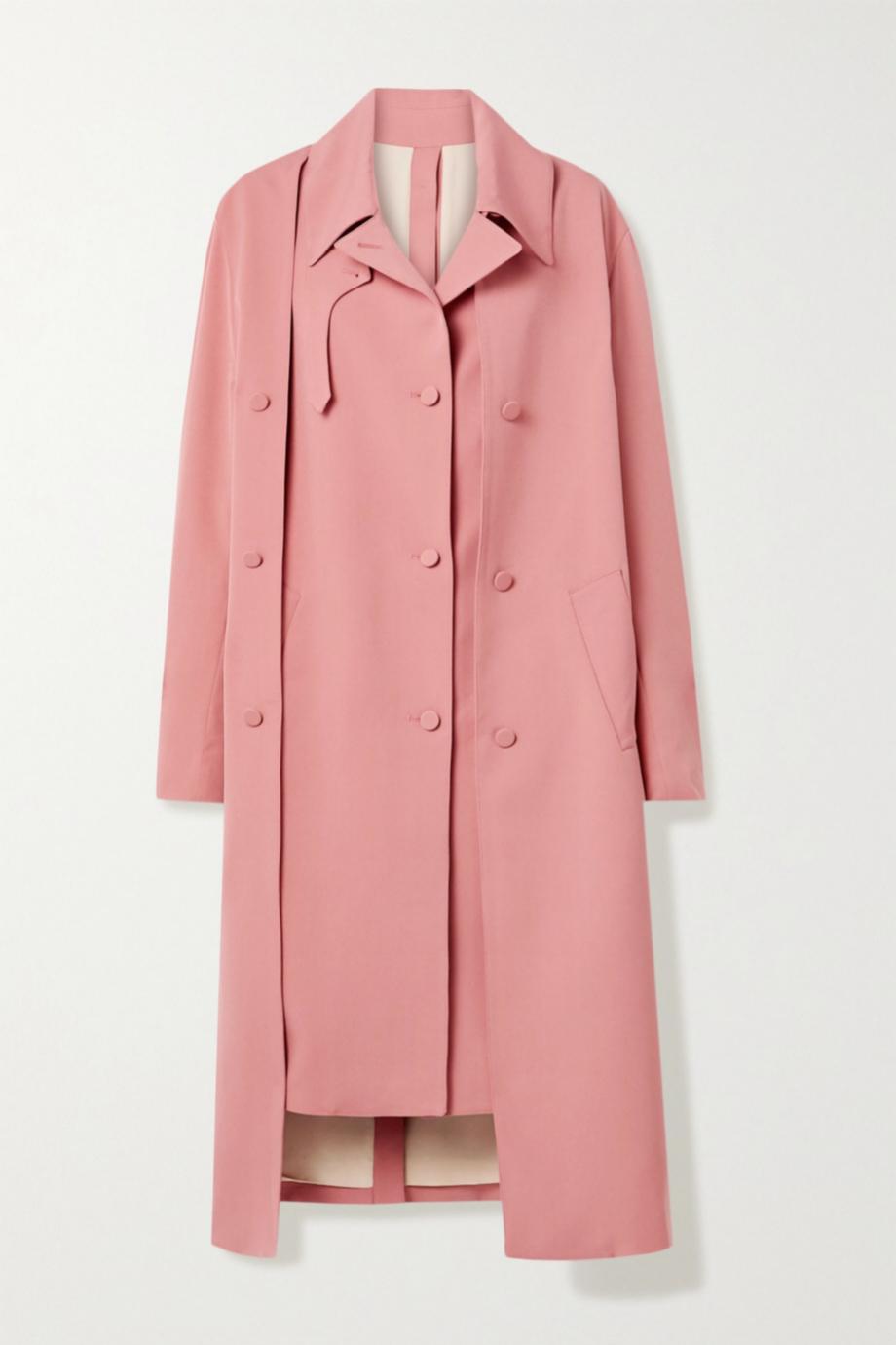 Gabardina <em>oversized </em>en color rosa de Rokh (c.p.v)