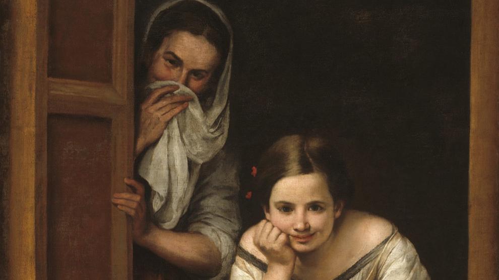 Mujeres en la ventana. Murillo.