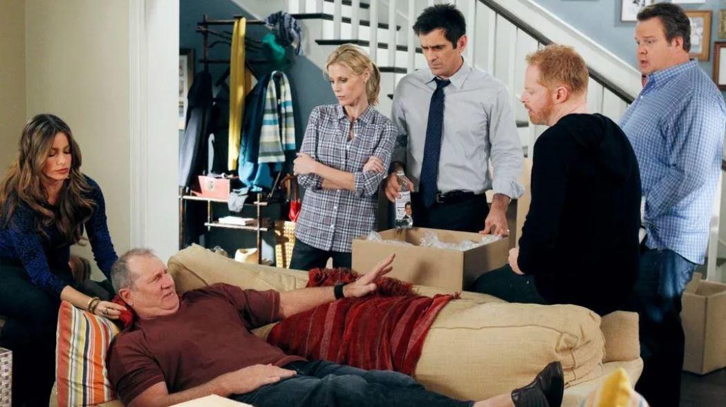 Escena de la serie Modern Family.