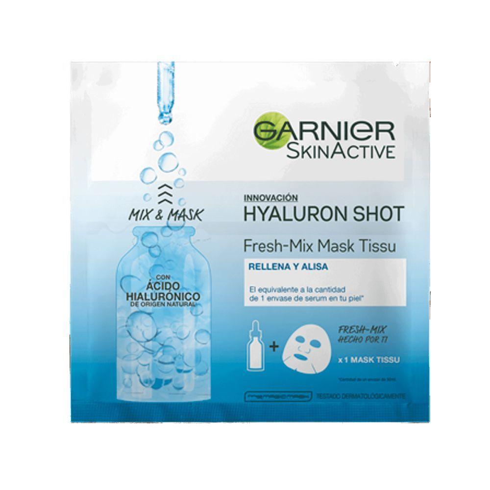Mascarilla tissu hidratante y refrescante con ácido hialurónico Fresh Mix de Garnier.