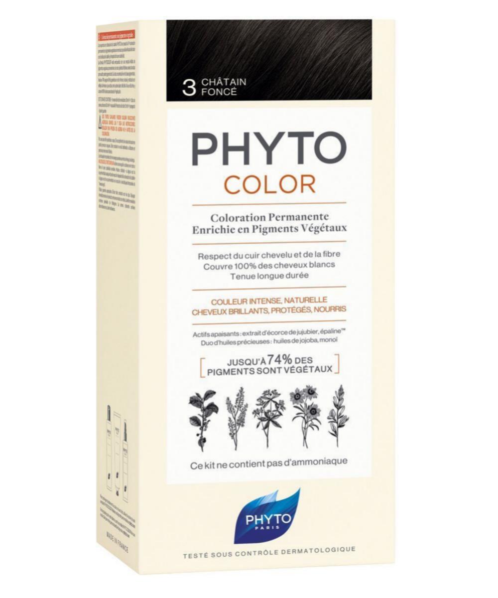 Phytocolor coloración permanente con pigmentos vegetales que cubre el...