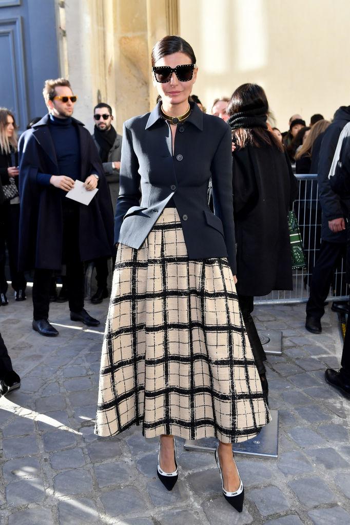 A la salida del desfile de Dior en la Alta Costura de París, el enero de 2020.