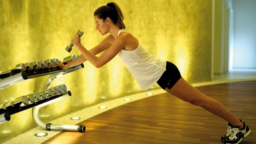 Aida Artiles en pleno entrenamiento.