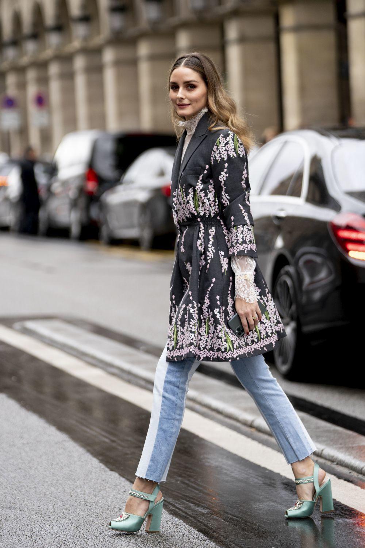 Olivia Palermo durante la semana de la moda de París.