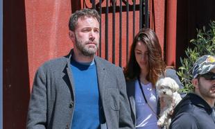Ben Affleck y Ana de Armas en Los Angeles.