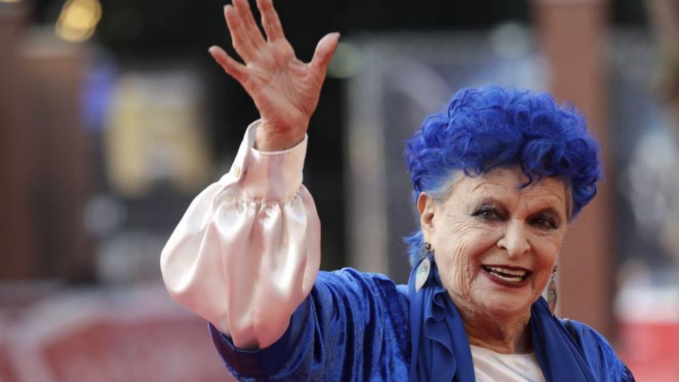 Lucía Bosé en el pasado Festival de Cine de Roma presentando su...
