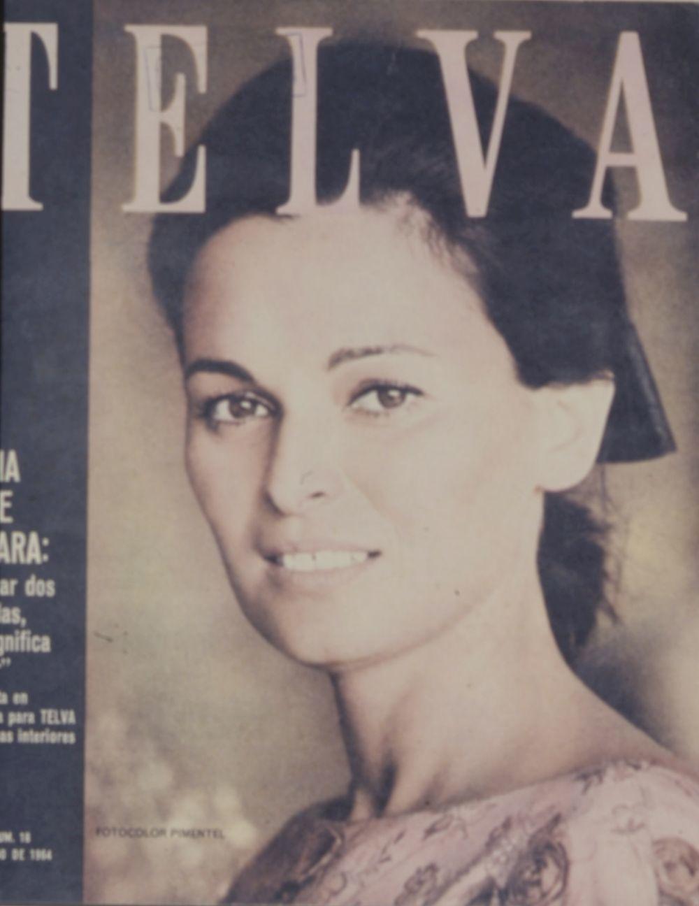 Lucía Bosé, portada de TELVA en 1964.