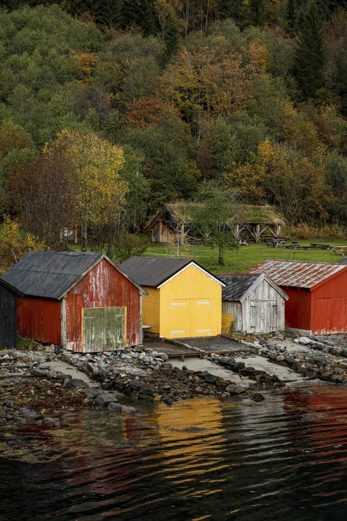 Cabañas en Hjorundjord.