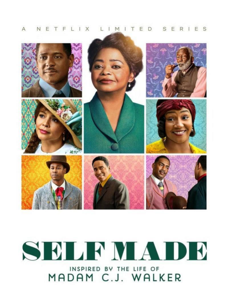 Cartel de la serie sobre CJ Walker en Netflix.