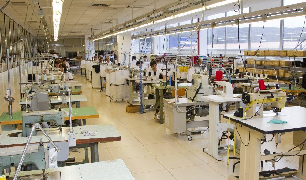 El interior de una fábrica de Inditex.