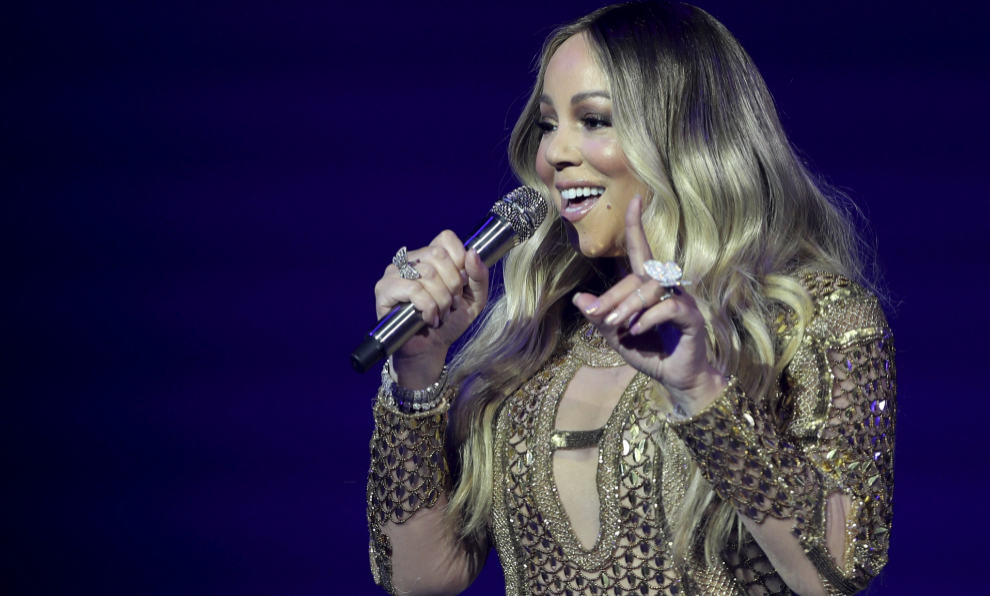 Mariah Carey, en uno de sus últimos conciertos.