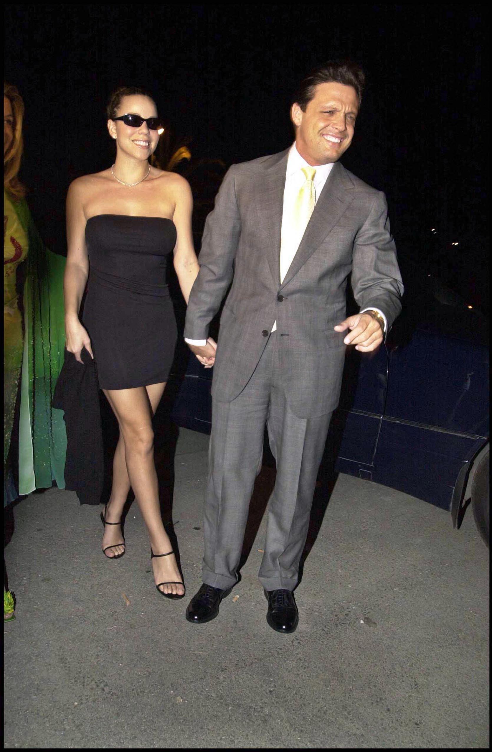 Mariah Carey junto a Luis Miguel, en 2001.