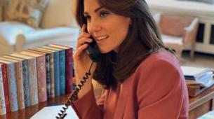 Kate Middleton trabajando en su despacho del palacio de Kensington.