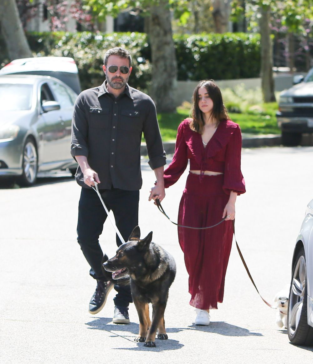 Los dos actores pasean a sus mascotas por Los Ángeles.