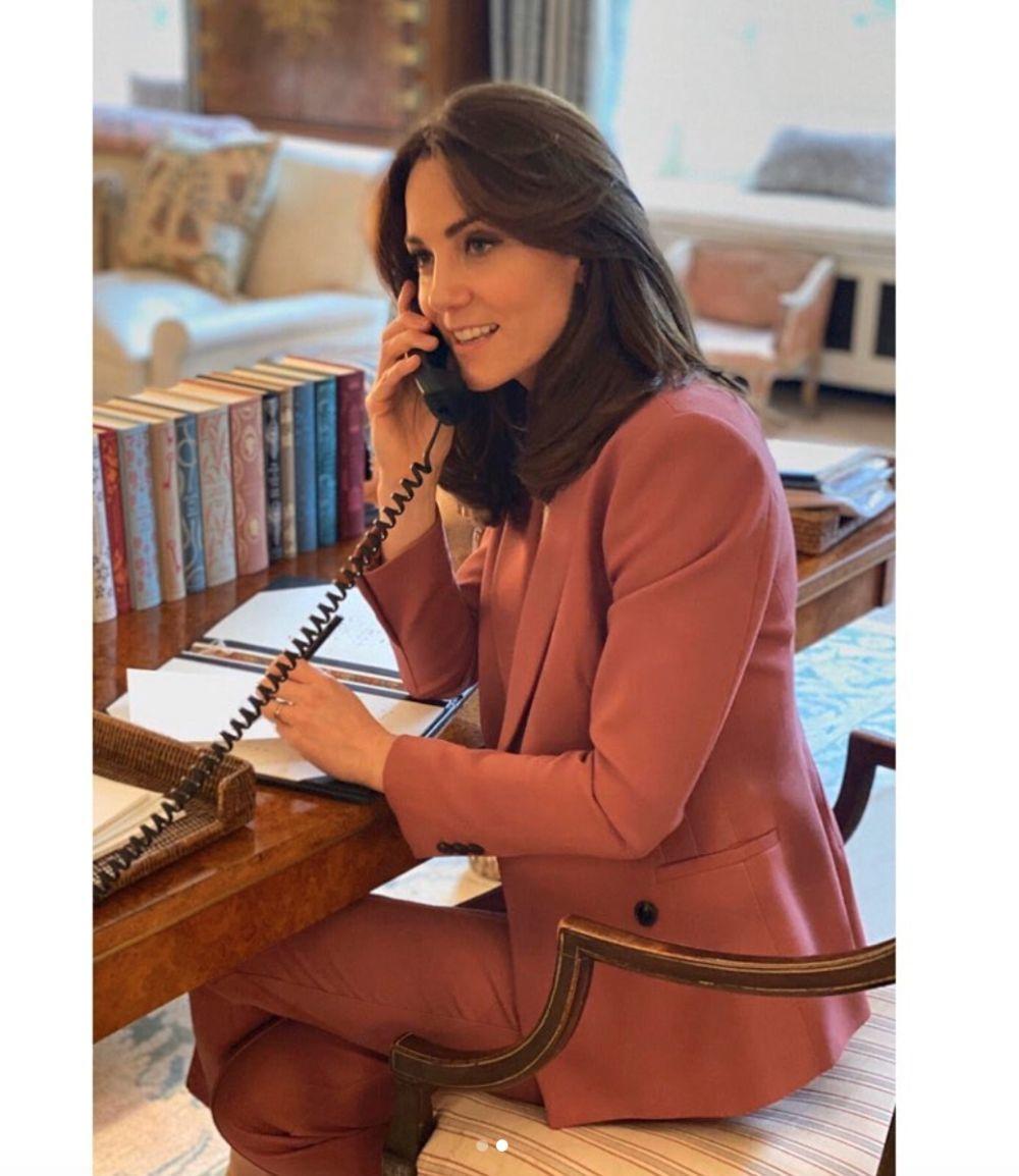 Kate Middleton teletrabajando
