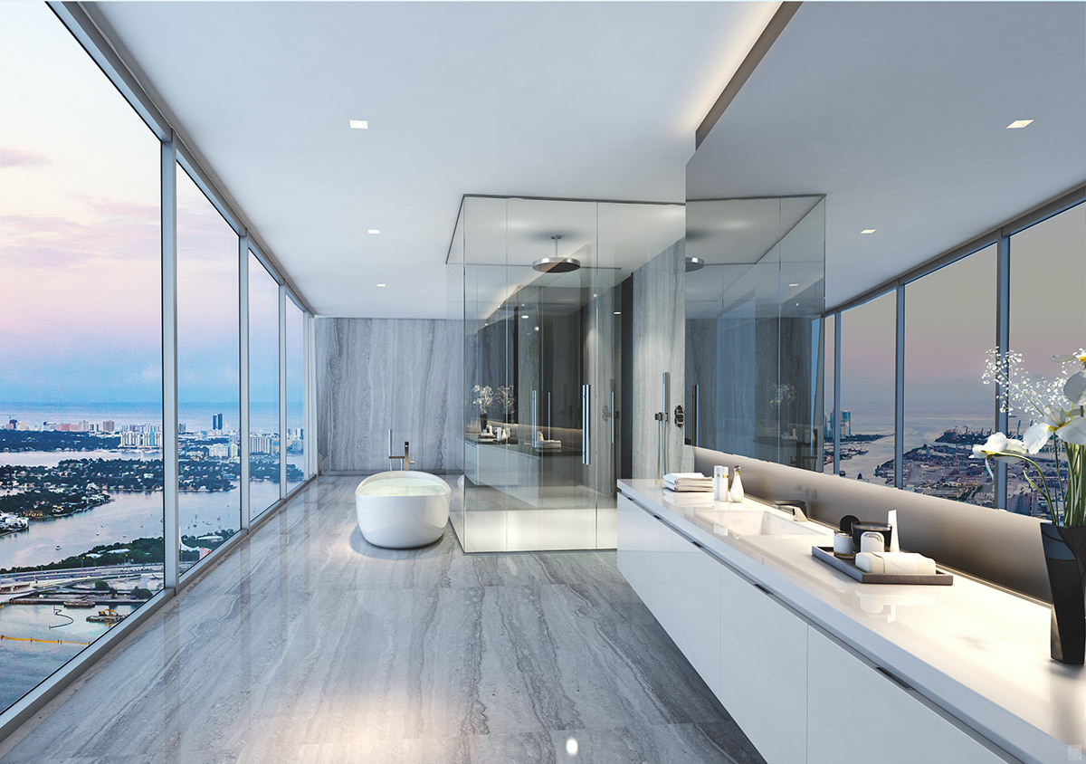 Vistas desde uno de los baños del edificio donde residirá la familia...