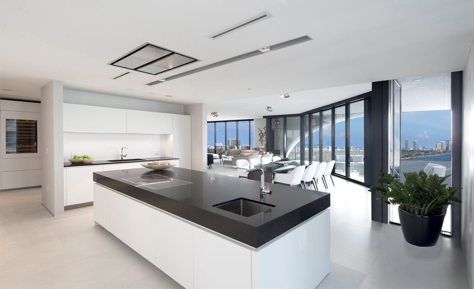 La cocina de una de las casas como la de los Beckham.
